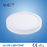 Energy-saving Commercial 18W Surface Mouted Super Slim Glass LED Down Light