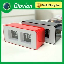 New arrival digital flip clock retro flip down clock auto flip calendar clock