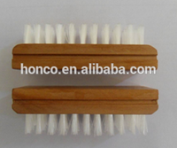 high quality wooden material nail cleaning brush with low price