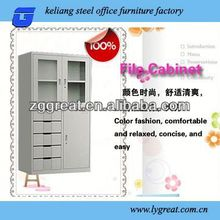 glass door with 5 drawer uniform storage cabinet GLT-10-048