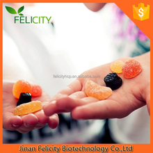 500mg ,1000mg ,HALAL ,GMP Certificate OEM Natural Fruit Flavored pectin multivitamins gummy candy 60 pills in bottle