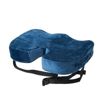 Memory foam seat cushion with back strap and carry handle