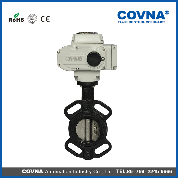 dn150 Ductile Iron Electric Wafer Type Butterfly Valve