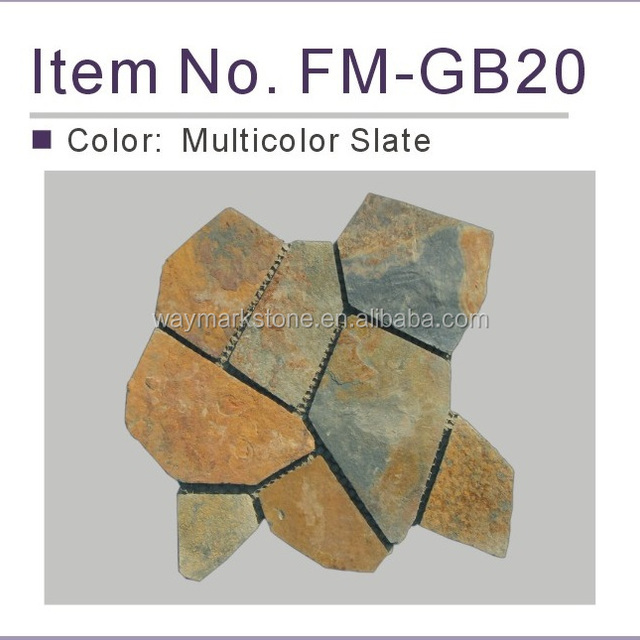 outdoor slate mosaic tiles stone mesh paver for flooring and walling