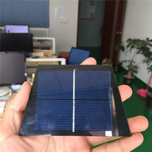 Custom Shape 1V 0.6W Small Tempered Glass Poly Crystalline Mini Solar Cell Panels