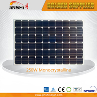 Tempered glass high efficiency solar panel monocrystalline 250w