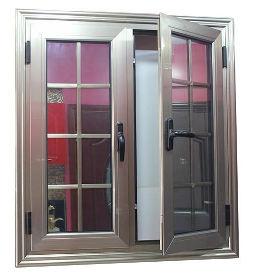 Double Casement Windows : Double opening aluminum casement window with glass