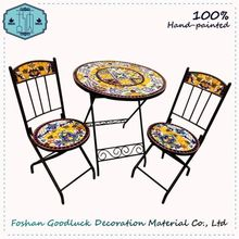 Hand Crafted Mosaic Decor Hot Sale Black Inexpensive Patio Furniture