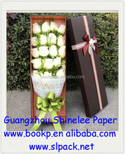 fancy customized flower gift box for wedding or birthday/valentine's day flower box