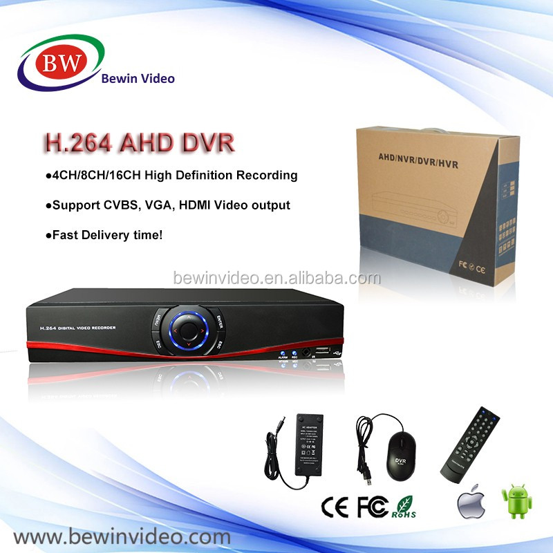 Low Cost 4 Channel CCTV AHD DVR For Camera AHD Hybrid1080N/720P H.264 ONVIF 3 In 1 Digital Video Recorder
