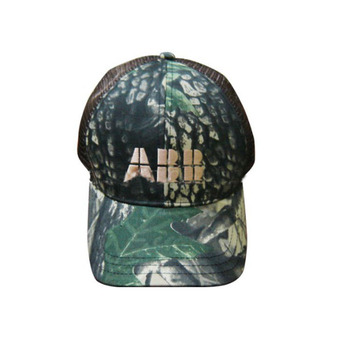 6-panel Camo Baseball Cap with mesh and embroidering logo