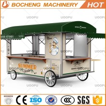 Mobile food trailer and motor tricycle mobile food cart