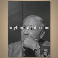 100%handmade famous people portrait oil painting