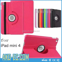 360 Degree Rotation Leather Cover With Holder Stand Case For iPad Mini 2/3/4