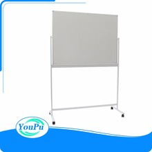 Office interactive double side magnetic mobile free whiteboard with stand
