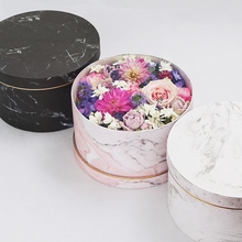 Marble color small cardboard paper different types gift packaging flower hat box