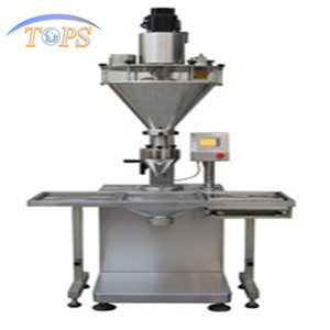 automatic operation powder container filling machine/auger filler(servo driven)