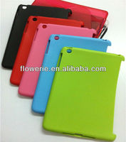 FL2213 2013 Guangzhou hot selling soft tpu rubber jelly skin case for ipad mini
