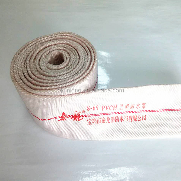 white rubber lined 2'' canvas fire hose