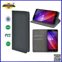 Leather Black Folding Smart Case Cover for Asus Zenfone 2,Flip case for ASUS