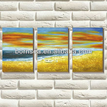Beach scenery OEM pieces group stretched canvas prints wall decoration art painting