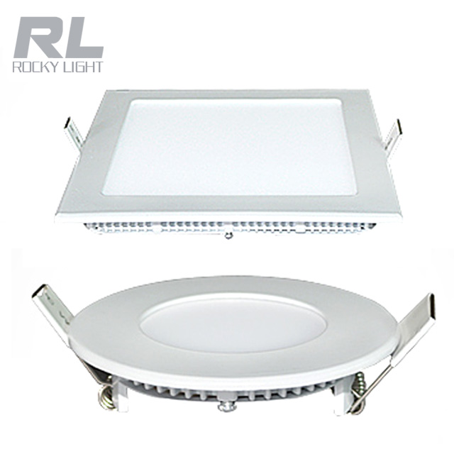 3w 6w 9w 15w 18w panel light Ultrathin embeded Recessed Square/Round Led ceiling light