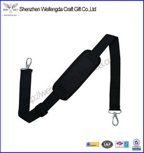 Adjustable replacement padded shoulder strap with metal hooks