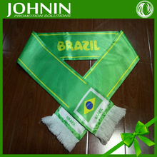 2018 World Cup football Brazil fans neckwear polyester scarf