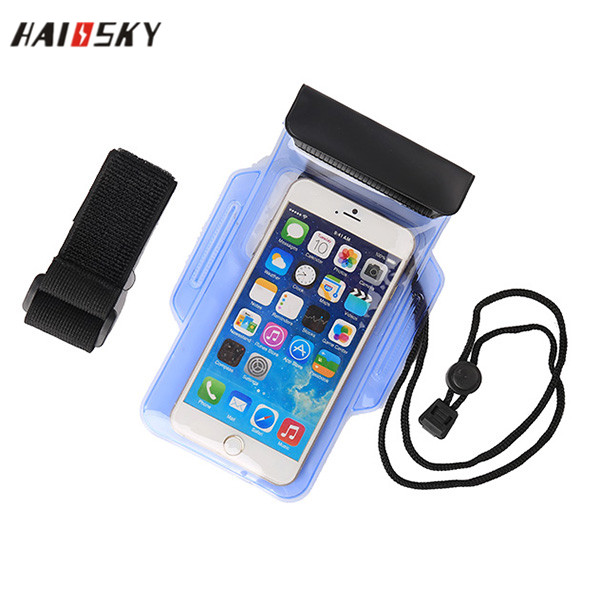 HAISSKY 6'' PVC Waterproof Mobile Phone Cases Diving Bag Pouch For Samsung Note 3 4 5 iPhone 6 6S Plus 100% Sealed Swimming