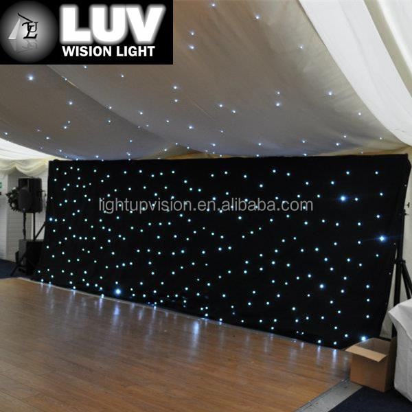 LUV-LHC hot sale led curtains and drapes for wedding decoration