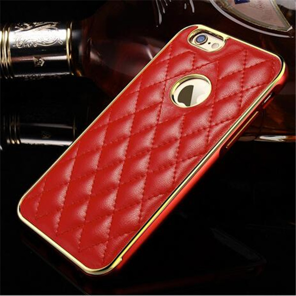 Wholesale Leather Case For iPhone 6, Metal Cover For iPhone 6 Case Luxury, For iPhone 6plus Genuine Leather Case