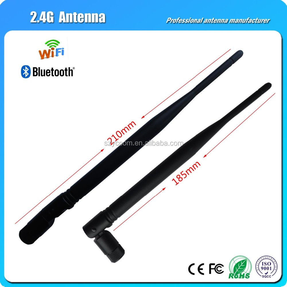 Black rubber 2.4G 5DB WiFi Wlan Folded Antenna With SMA Male Connector Signal emission antenna