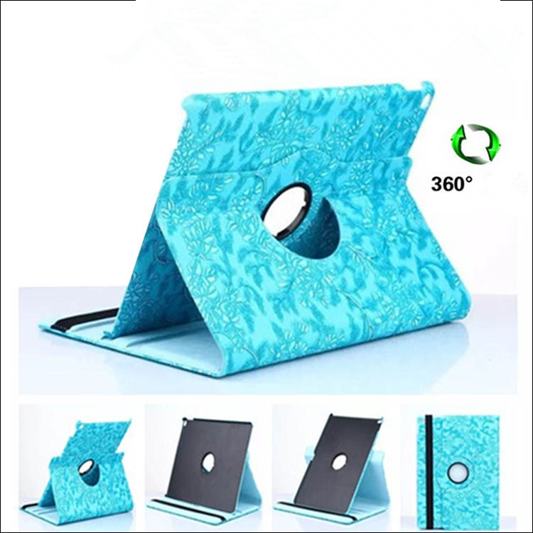 Shockproof 360 degree rotation tablet cover for ipad air 2 ,smart leather PU Grape lines flower cover for ipad stand mini 1234