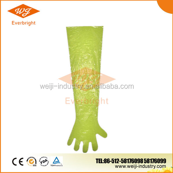 disposable plastic gloves for veterinary