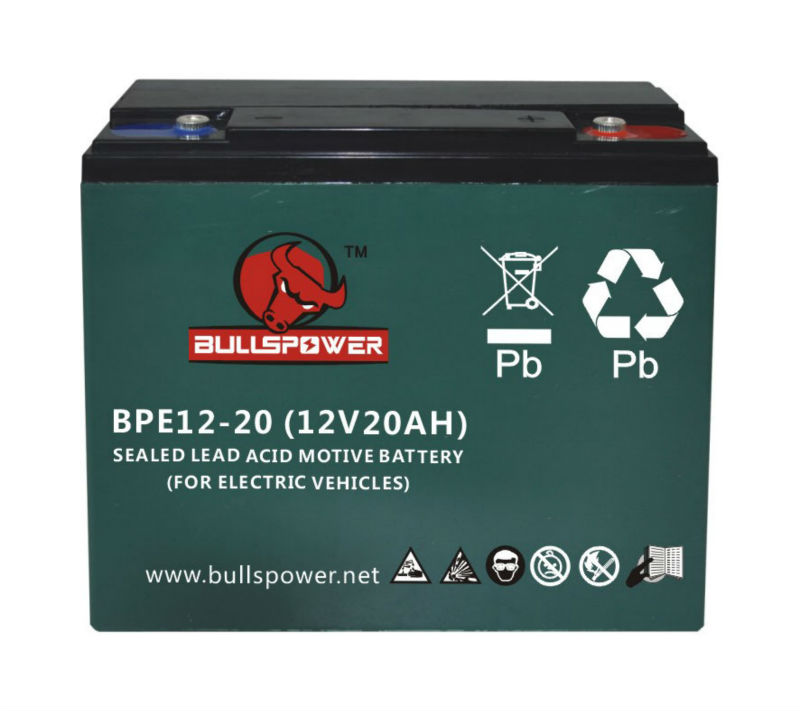 48v 20ah lead acid battery electric vehicle battery 1000w electric battery powered motorcycle 12v 20ah BPE12-20