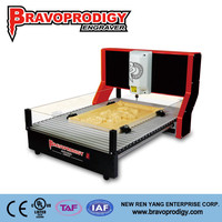 New Design wood, plastic, MDF, ABS hobbist computer controlled 3d cnc wood carving machine