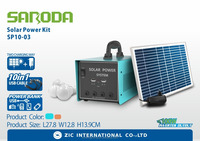 Rechargeable 12V battery inverter function solar power kits