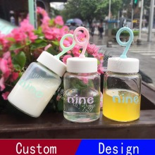 Glass Water Cup with Silicon Material Creative Digital Handle