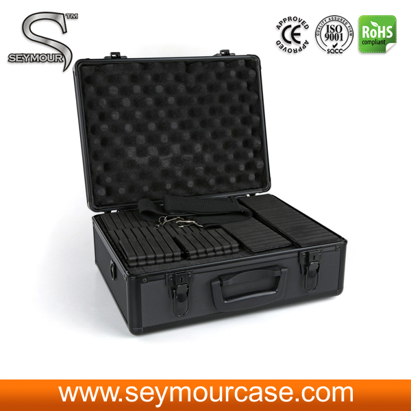 NEW alumnum camera tool carry case with diced foam