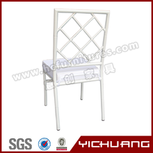 High quality aluminum wedding tiffany white chair with net back with YCX-A28