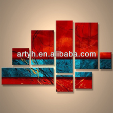 Popular modern handpainted abstract printed canvas art design