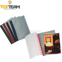 Color Spine Mental Plastic Report File Folder, PVC Snap Report Clip File Folder For School Office