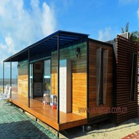China prefab modified renovated container house, steel container, wooden container house