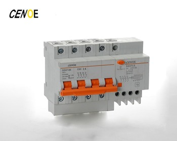 30Ma 300Ma 4 Pole 4P Rccb Residual Current Circuit Breaker