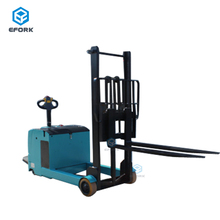 Green Electric Reach Stacker for Warehouse