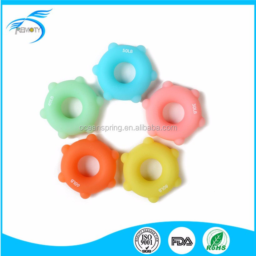Silicone and Rubber Strengtheners Hand Grip Ring Finger Massage Ring