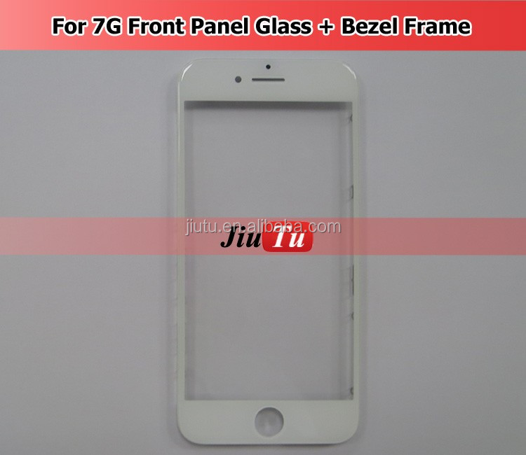 Jiutu For hpone 7G Cold Press Front Panel Glass With Bezel Frame Pre-Assembled LCD Screen Repair