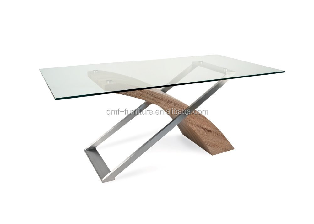 Good design modern MDF wood dining table set for home use