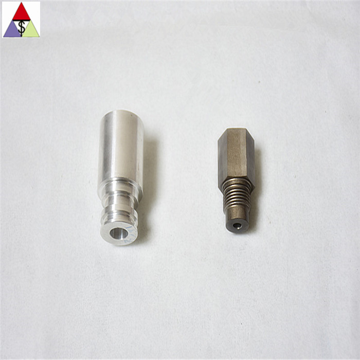 CNC turning and milling steel and stainless steel auto connector