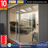 Australia standard six panel large glass sliding door powder coated aluminium sliding doors